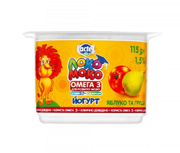 Լոկո Մոկո Խնձոր և տանձ 1.5% 115գ