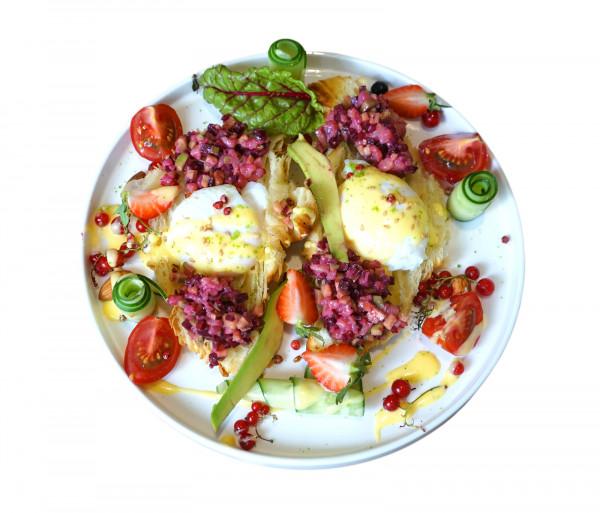 Ձու բենեդիկտ բանջարեղենով Local's by Baguettes