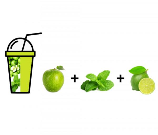 Թարմ հյութ Խնձոր + Անանուխ + Լայմ