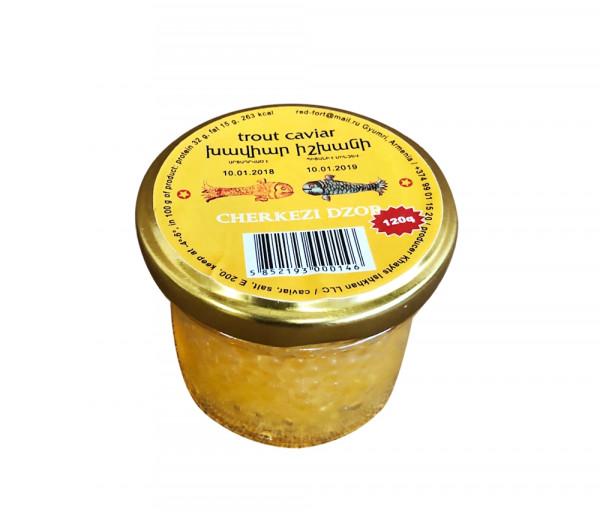 Իշխանի դեղին խավիար «Չերքեզի ձոր» 120գ