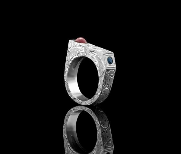 Ձեռքով փորագրված մատանի Tevos Jewelry