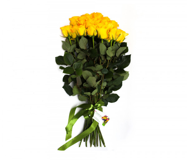 Bouquet of 19 yellow roses Anahit