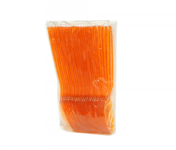 Օվալ Պլաստ Գդալ Մեծ Թափանցիկ Նարնջագույն 25 հատ