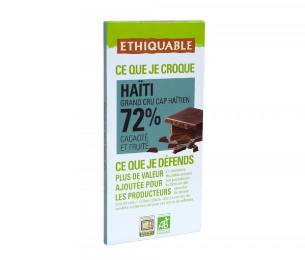 Էթիկաբլ Բիո Մուգ շոկոլադ Սալիկ 72% 100գ