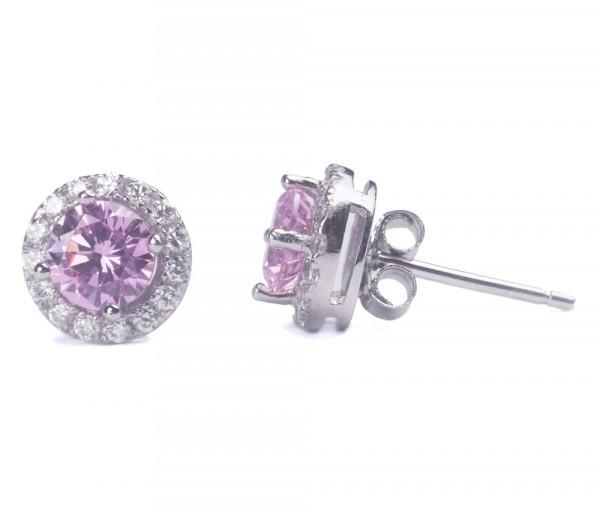 Silver earrings SE214RD5P