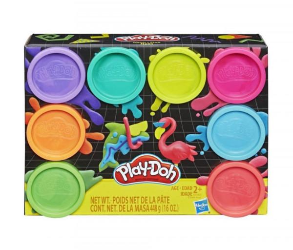 """Hasbro Պլաստիլին PLAY-DOH 8 Գույն """"Neon"""""""