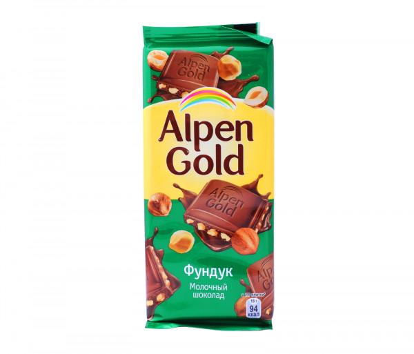 Ալպեն Գոլդ Շոկոլադե սալիկ Պնդուկ 90գ