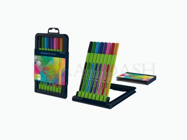 Ֆետրածայր գրիչների հավաքածու Schneider Line Up 0.4մմ 8 գույն