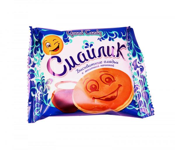 Թխվածքաբլիթ կաթնային միջուկով «Սմայլիկ» Grand Candy