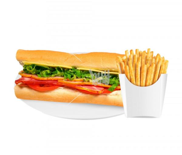 Սենդվիչ «Վեսթերն» + կարտոֆիլ ֆրի