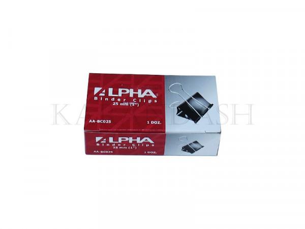 Սեղմակ թղթերի համար Alpha AA BC025 25մմ