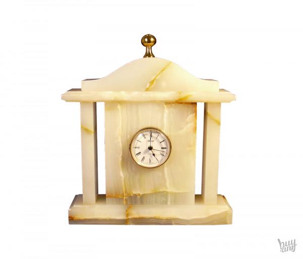 Սեղանի ժամացույց oբսիդիան «Քարե» մեծ