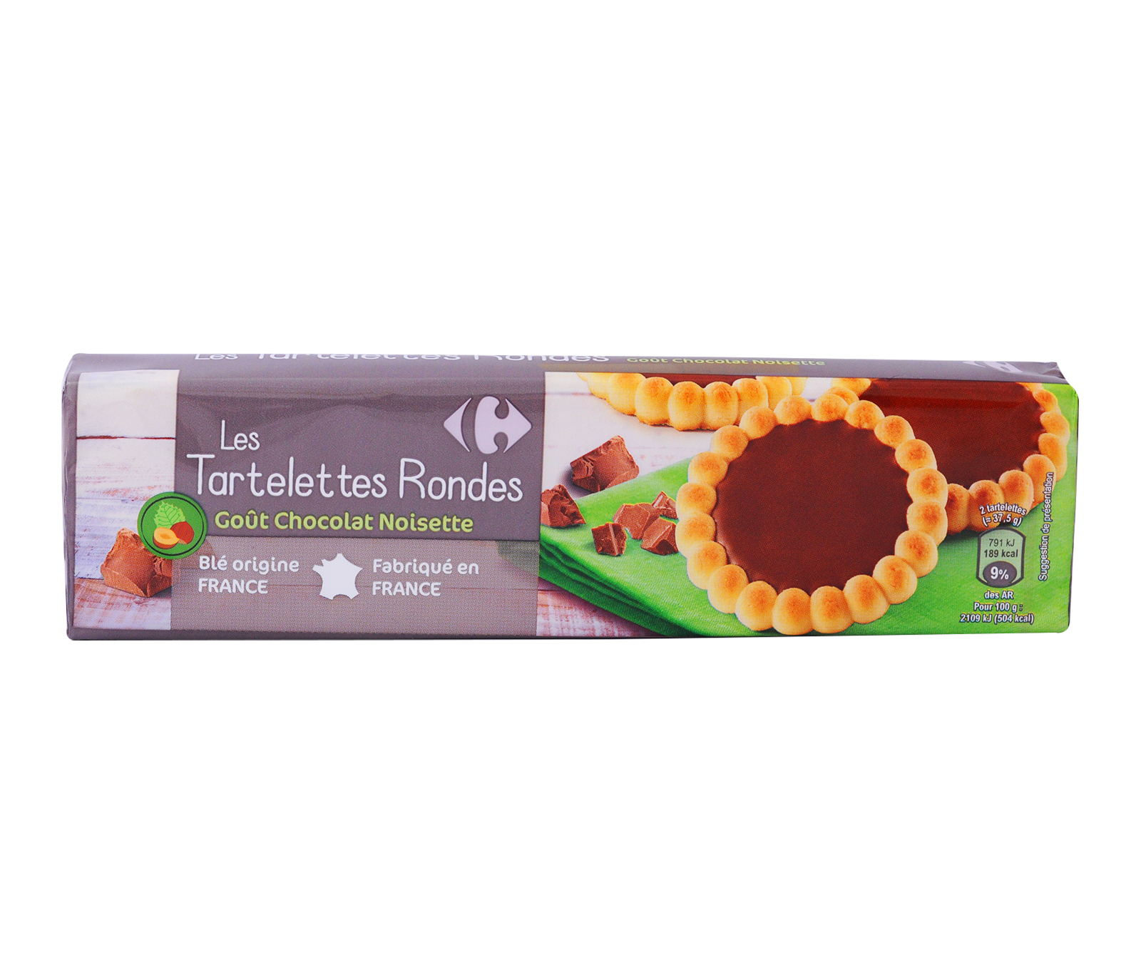 Carrefour Tartlets Filled W Chocolate 150g Chocolate Cookies
