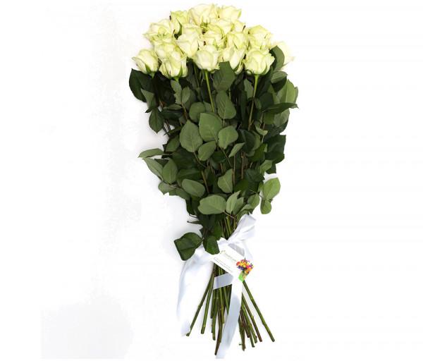 19 սպիտակ վարդով ծաղկեփունջ Anahit