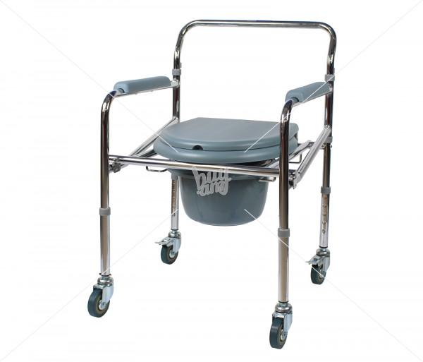 Աթոռ սանիտարական հարմարանքով (կարգավորվող բարձրությամբ, անիվներով) «WC Mobail» Valentine