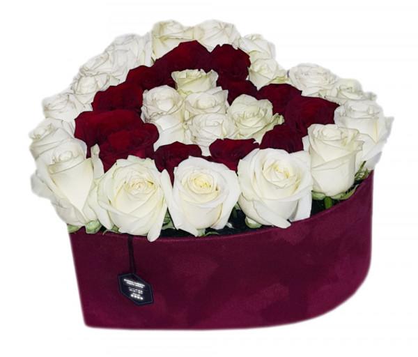 Հավաքածու Heart Box Isabel (զամշե տուփ) Coco Fiori