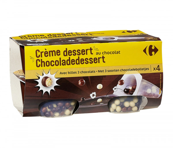 Carrefour Cream Dessert Choco 4x117g