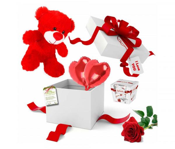 Հավաքածու «Անակնկալ նվեր և մեկ վարդ» Flowers Armenia