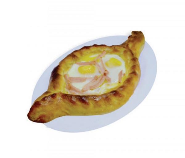 Աջարական խաչապուրի խոզապուխտով (2 ձու) Կարաս