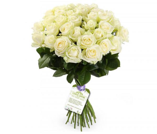 Ծաղկեփունջ «37 Սպիտակ Վարդեր»