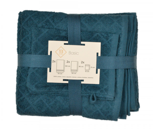 Տեքս Սրբիչների հավաքածու (6 հատ) Կապույտ