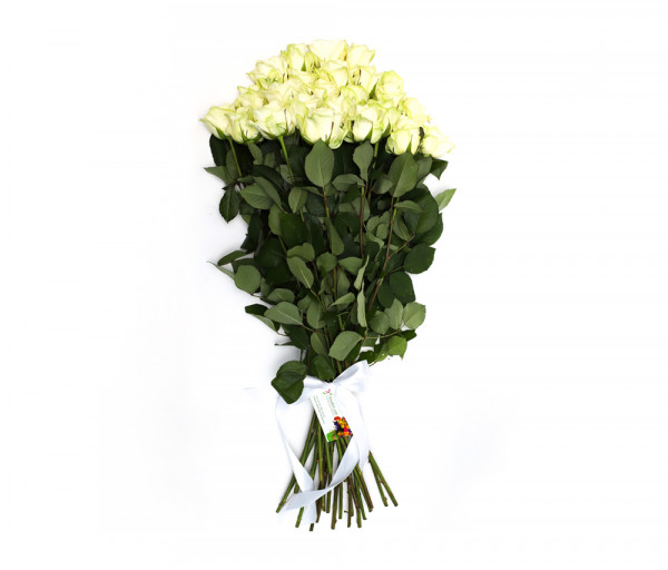 Bouquet of 25 white roses Anahit