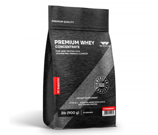 Premium Whey Concentrate 900g Strawbewrry