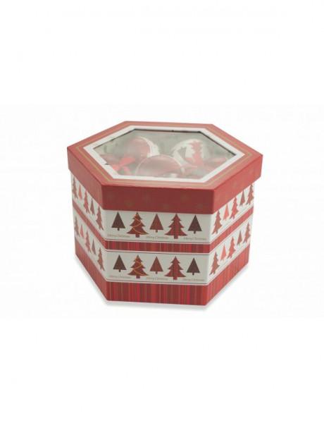 Տոնածառի խաղալիք Box Palle Natale Alberi, SET 14