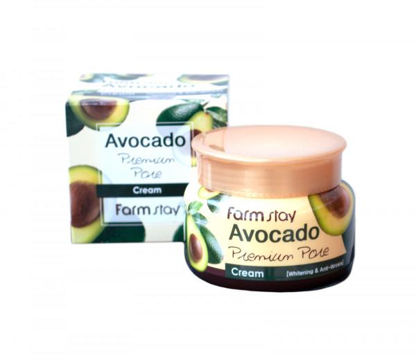 Հակատարիքային սպիտակեցնող և խոնավեցնող դեմքի քսուք «Avocado Premium Pore» Farm Stay 100գր