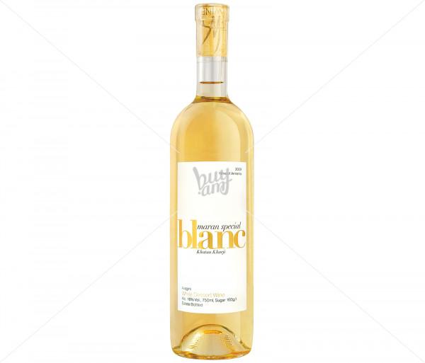 Խաղողի գինի «Բլան» սպիտակ, կիսաաղանդերային Maran Winery