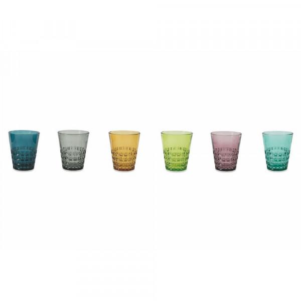Բաժակների հավաքածու Pixel Set 6 Bicchieri Acqua ass.