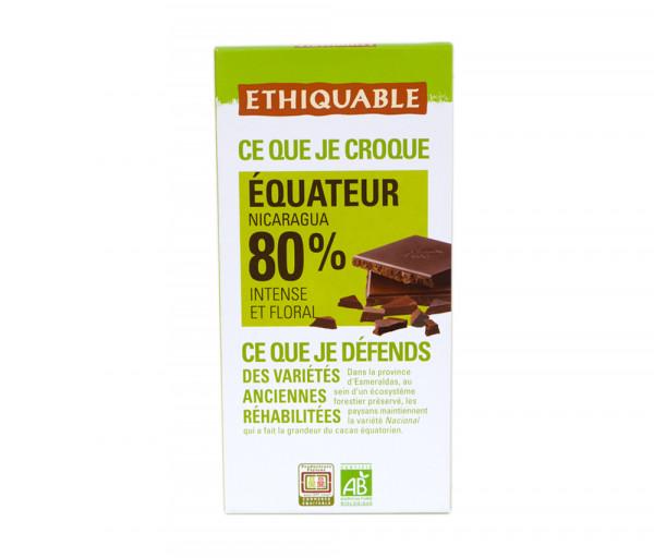 Էթիկաբլ Բիո Մուգ շոկոլադ Սալիկ 80% 100գ