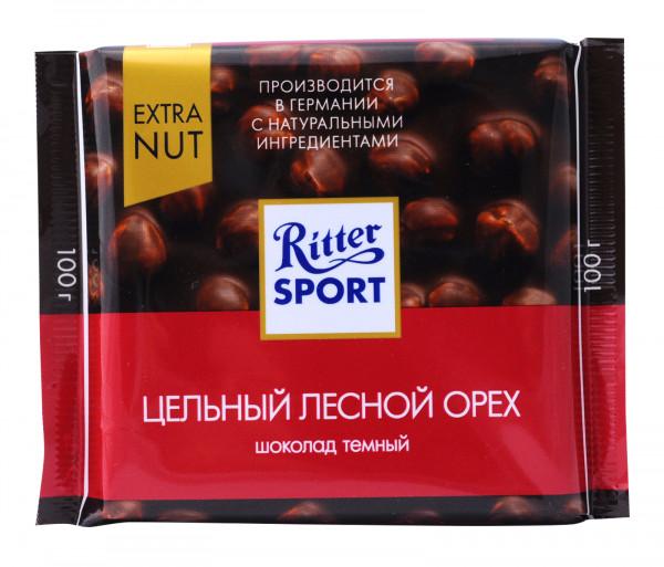 Ռիթեր Սպորտ Սև շոկոլադ պնդուկով 100գ