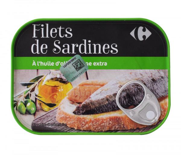 Քարֆուր Սարդինա ձկան ֆիլե յուղի մեջ 100գ