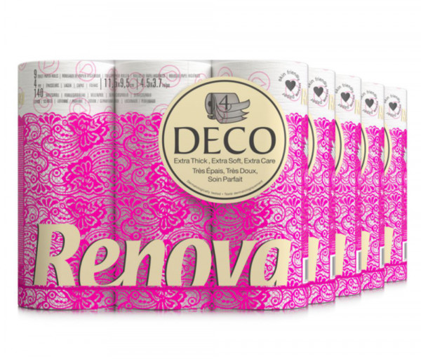 Ռենովա Դեկո Զուգարանի թուղթ 4 շերտ x12