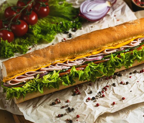 Խոզապուխտով սենդվիչ 30սմ 12 Կտոր Պիցցա