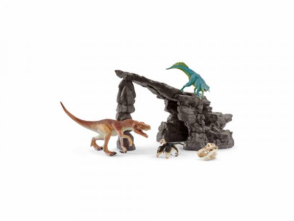 Schleich Դինոզավրերի արձանիկների հավաքածու «Դինոզավրեր և քարանձավ»