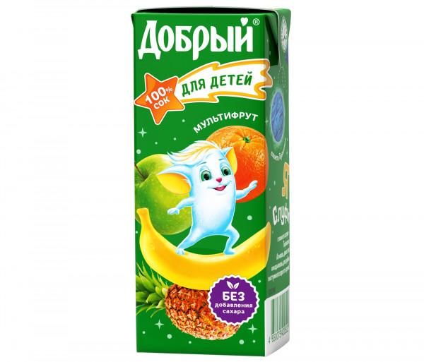 Բնական հյութ «Добрый» (մուլտիֆրուտ) 0.2լ