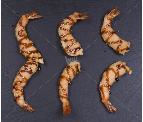 Տաք ռոլլ Մանրածավախեցգետինները տեմպուրայում Մուրակամի