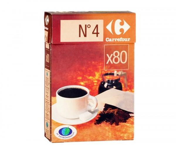 Քարֆուր Սուրճի շագանակագույն ֆիլտր N4 X80