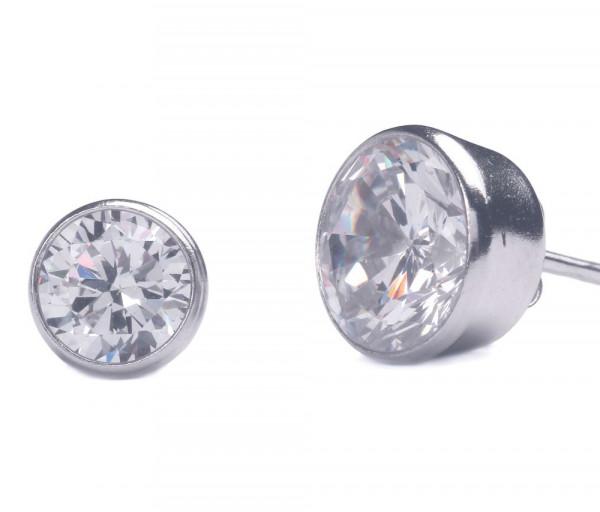 Silver earrings SE215B6W