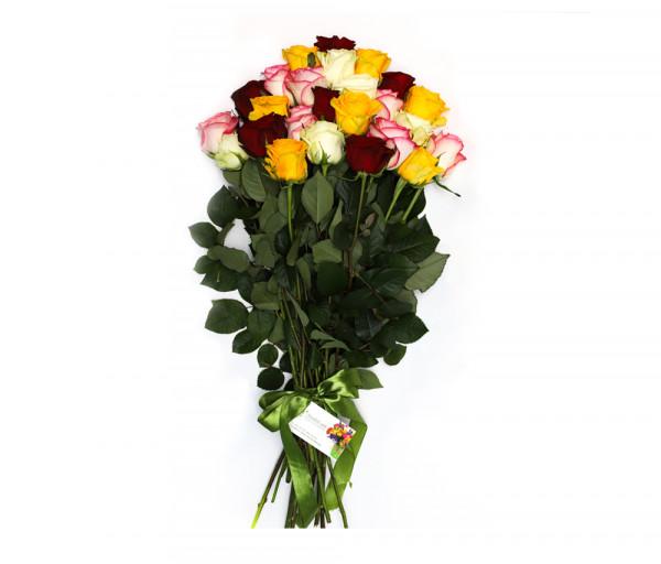 25 գունավոր վարդով ծաղկեփունջ Anahit