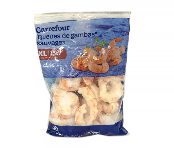 Carrefour Peel raw shrimp tails 300g