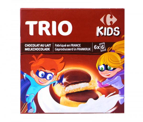 Քարֆուր Տրիո Մանկական թխվածքաբլիթներ կաթնային շոկոլադով 225գ