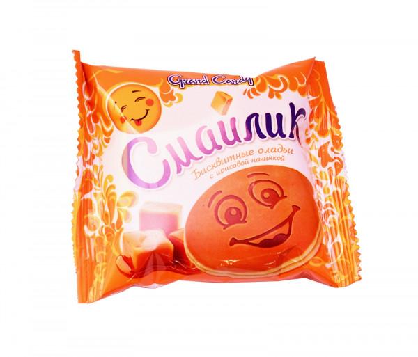 Թխվածքաբլիթ իրիսի միջուկով «Սմայլիկ» Grand Candy