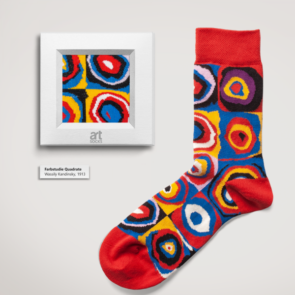 "Artsocks - Wassily Kandinsky ""Farbstudie Quadrate"""