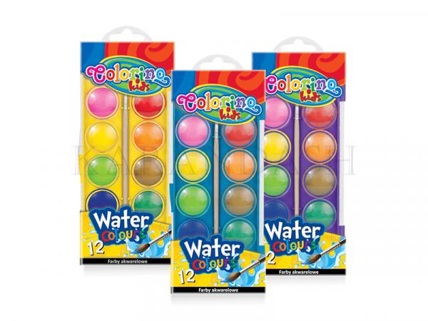 Ջրաներկերի հավաքածու Colorino Kids 41089PTR 12 գույն