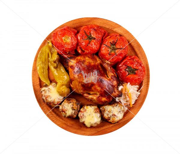 Ֆիրմային ուտեստ «Լցոնած հավ» Կովկասի Գերուհի