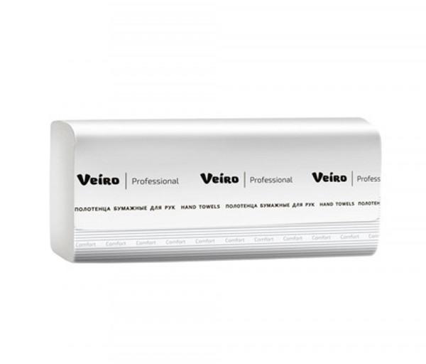 Ծալված Թղթե սրբիչ (երկշերտ) Veiro Professional Z22-200, 200 հատանոց
