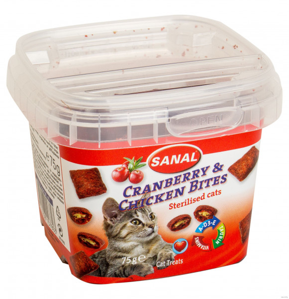 Կատվի անուշեղեն Cranberry & Chicken Bites 75 գ